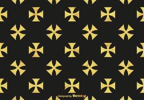 Gratis Gouden Maltese Kruis Vector Patroon