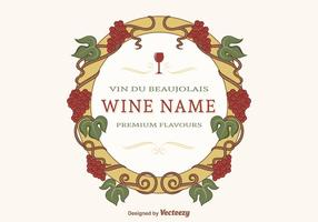Gratis Decoratieve Grape Vines Vector Frame