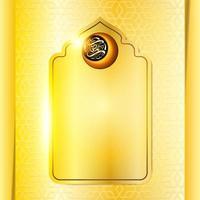 ramadan mubarak groet glanzende achtergrond vector