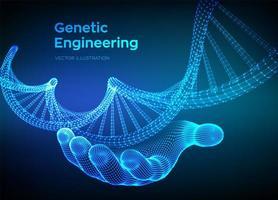 DNA-codevolgorde in de hand vector