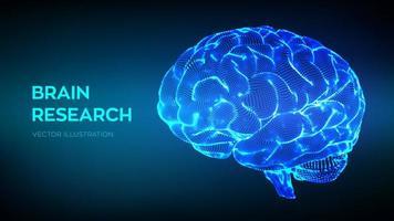 menselijk hersenonderzoek vector