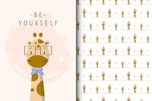 wees jezelf giraf