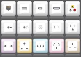 Plug en socket iconen