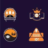 retro restaurant badge pack
