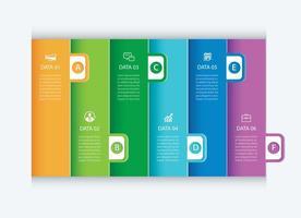 6 tabbladen voor gegevensinfographics