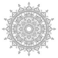 cirkel mandala om in te kleuren