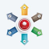 6 infographic cirkel en pijlen