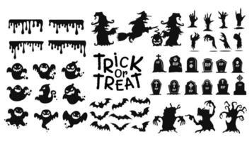 Halloween trick or treat-pictogrammen vector