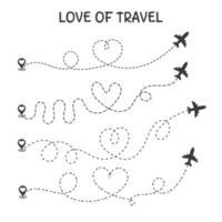 hou van reizen pictogrammen