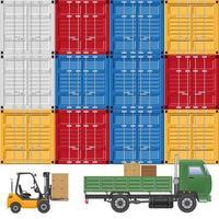 levering vrachtvrachtwagen