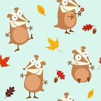 chipmunks en eikenbladeren patroon