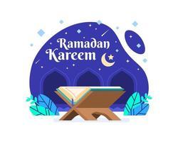 ramadan kareem achtergrond met koran
