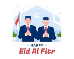 de president en vice-president van indonesië eid al fitr