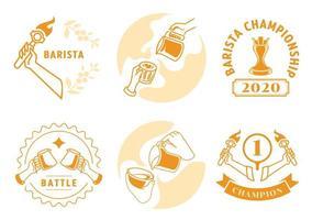 latte art badge set