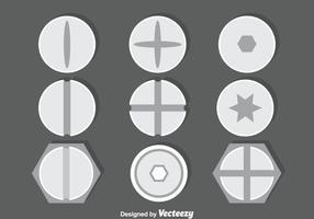 Bolt En Schroef Inzameling Vector