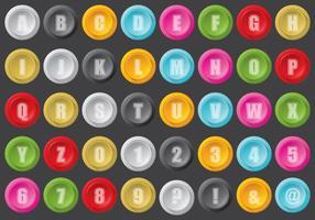 Arcade knop type vector