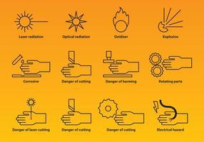 Industrie Waarschuwingspictogrammen