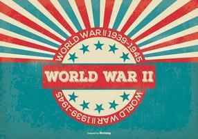 Retro Stijl Wereldoorlog 2 Achtergrond