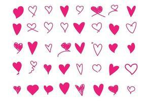 verzameling van hart iconen