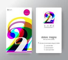 logo nummer 2 sjabloon voor visitekaartjes