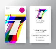 logo nummer 7 sjabloon voor visitekaartjes