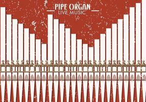 Pijp Orgel Kerk Muzikale Achtergrond vector