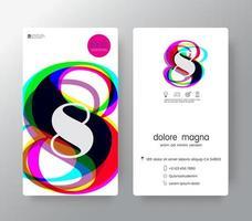 logo nummer 8 sjabloon voor visitekaartjes