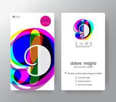 logo nummer 9 sjabloon voor visitekaartjes