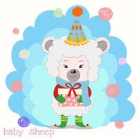 schapen houden geschenkdoos met rood lint