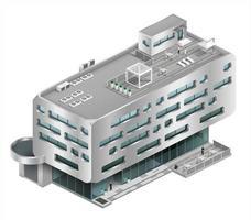 isometrie van een modern winkelcentrum