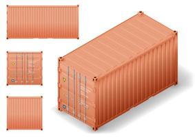 isometrie van zeecontainer voor vrachtvervoer