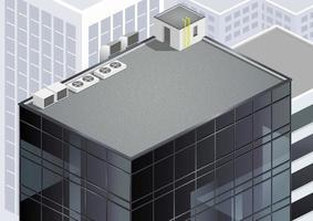 dak van een modern gebouw of wolkenkrabber