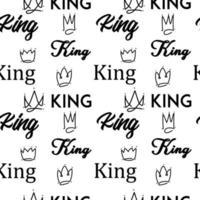 koning doodle naadloze tekstpatroon
