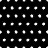 zwart-wit naadloze polka dot patroon vector