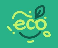 het woord eco typografie vector
