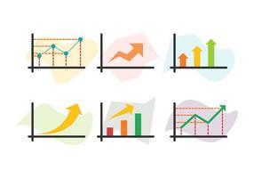 Gratis groeiende markt vector