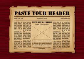 Oude Krant vector