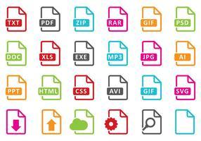 Bestandsymbolen vector