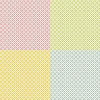 naadloze pastel diamant bloemmotief set