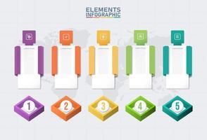 kleur infographic elementen sjabloon