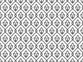zwart-wit naadloze etnische vintage patroon