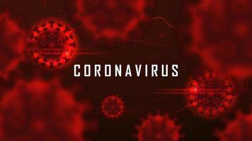 coronaviruscelstructuur drijvend in bloed