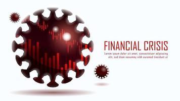 financiële crisis door coronavirusontwerp