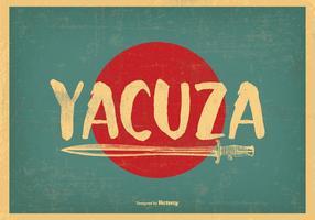 Retro Stijl Yacuza Illustratie vector