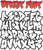 graffiti straat lettertype vector