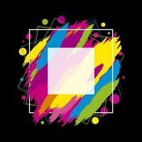 kleurrijke penseelstreken met wit frame
