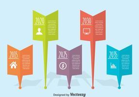 Vlakke Tijdlijn Infographic Vector