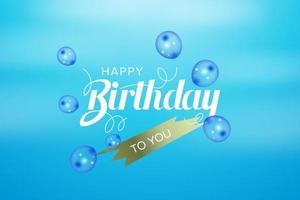 gelukkige verjaardag wenskaart op sky design vector