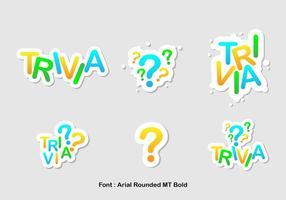 Trivia icon vector set