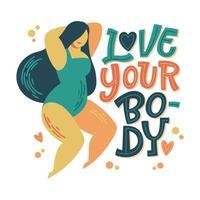 lichaam positieve belettering ontwerp.